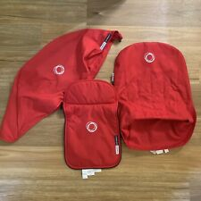 Bugaboo Cameleon Tailored Fabric Set Red Hood, Seat Liner And Apron