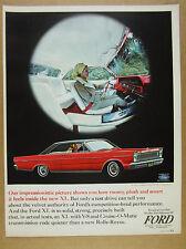 1965 Ford Galaxie 500 XL 2-door Hardtop red car photo vintage print Ad