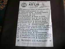 More details for the new ad lib club plague promotions 1983 gig flyer dr and the medics