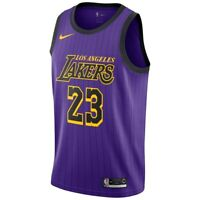 New Nike Los Angeles Lakers LeBron James 2018/2019 City Edition Swingman Jersey