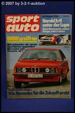 Sport Auto 11/78 BMW M1 BMW 635 CSI DB 450 SLC