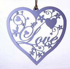 Hanging Decoration - White Fancy Love Heart. Home Decoration. Valentine, Wedding