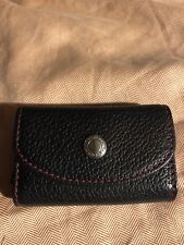COACH Mini Lipstick Case Holder Black with Red Contrast Stitching