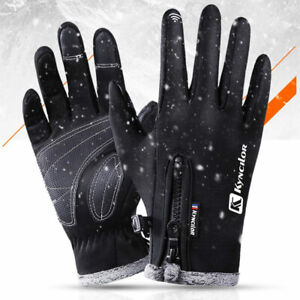 Anti-slip Cycling Gloves Winter Thermal Warm Full Finger Windproof Touchscreen