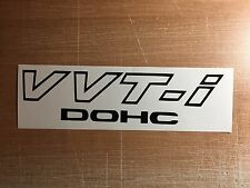 "Toyota V VT-i DOHC (2 PACK) 9"" BLACK Emblem Vinyl Sticker Decal VVTI TRD Supra"