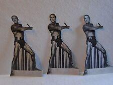 "Three 7"" Kirk Douglas The Ragman's Son Cardboard Cutout Waldenbooks"