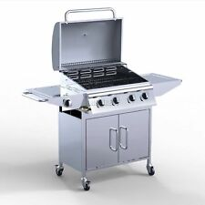 4 Burner BBQ garden patio Gas Grill Barbecue Stainless Steel +1 Side Outdoor