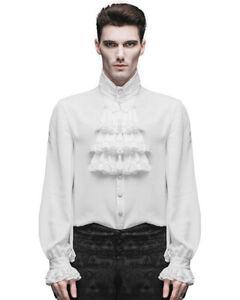 Devil Fashion Mens Shirt Top White Gothic Steampunk Victorian Regency Aristocrat
