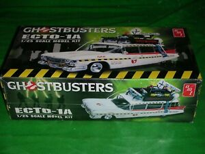 AMT 1:25 SCALE GHOSTBUSTERS ECTO-1A MODEL KIT NOT STARTED BOX STILL SEALED