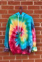 TIE DYE HOODIE Spiral Hipster Fashion Tye Die T Shirt Festival Grunge Rainbow T