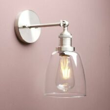 Vintage Industrial Clear Glass Lampshade Wall Lamp Sconce Edison Light Fitting