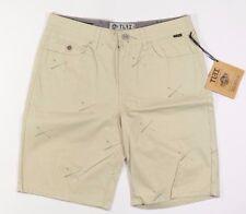 TLFI PANDA  Mens 100% Cotton Shorts Size 32 Khaki NEW