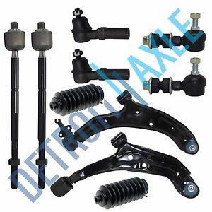 Front Suspension Ball Joint And Tie Rod End Kit For 2007-2012 Nissan Sentra
