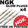 4x NGK NTK Diesel D Heater Glow Plugs FORD RANGER 1999-2002 2.5 D & TD #5116