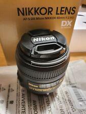 Nikon AF-S Micro Nikkor 40mm F2.8 G DX Macro Lens BNIB