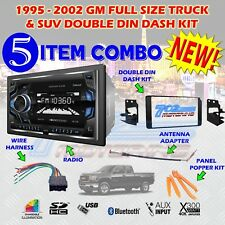 1995-2002 GM FULL SIZE TRUCK & SUV DOUBLE DIN CAR STEREO INSTALLATION DASH KIT H