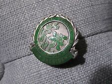 Sterling Silver and Green Enamel Garden Club Pin, c. 1930!