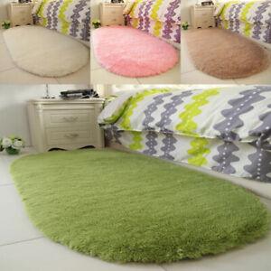 Fluffy Rugs Anti-Skid Shaggy Area Rug Dining Room Floor Mat Home Bedroom Carpets