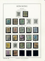 Hong Kong Classic 1862 to 1898 High Value Stamp Collection