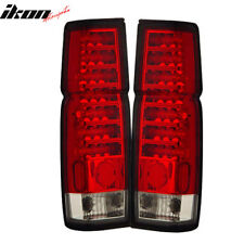 Fits 86-97 Nissan Hardbody LED Tail Lights Red Clear