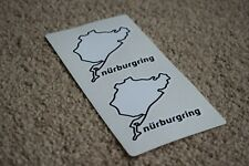 NURBURGRING Car Motorcycle Race Circuit Bike Decal Sticker Audi BMW 50mm