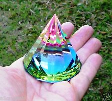 Beautiful 6cm Crystal Pyramid Paperweight  (Brand new)