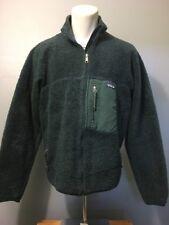 Vtg 90s Patagonia Green Fleece Thick Pile Jacket Mens L Ski Coat USA Full Zip Up