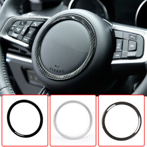 For Jaguar XFL F-PACE XE XEL X761 X760 X260 ABS Steering Wheel Ring Trim Cover