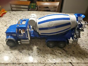 "25"" Bruder MACK Granite Cement Mixer TRUCK 1:16 Toy Made Germany 02814 Used BIG"