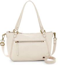 $149 The Sak Carson Leather Satchel Handbag Shoulder Bag Crossbody in STONE