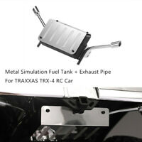Metal Simulation Fuel Tank + Exhaust Pipe for TRAXXAS TRX-4 Land Rover Defender