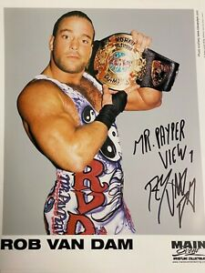 SIGNED RVD ECW TITLE CHAMPIONSHIP 8x10