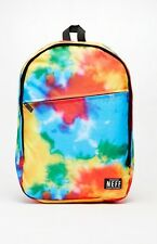 MEN'S GUYS NEFF DAILY TIE DYE MULTI COLORED BACKPACK SCHOOL BAG NEW $55