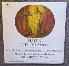 "HAYDN ""THE CREATION"" SUNG IN ENGLISH MUSICA AETERNA-2 LP'S-STILL SEALED! MCA NEW"