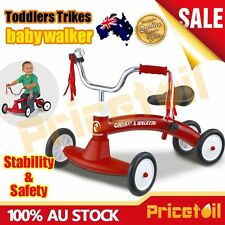 Red Kids Balance Bike Toddler Baby Slider Push Walk Learning Ride On Scooter Toy