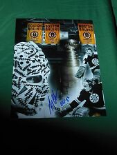 Boston Bruins Gerry Cheevers Autographed 8x10 Photo Stanley Cup Collage