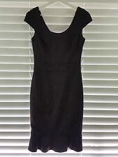 REVIEW sz 8 womens Black  dress RRP$300+