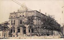 Sheldon Iowa~Arlington Hotel~Third Avenue @ 9th Street~Boys on Corner~c1910 RPPC