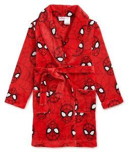 Spiderman Robe Size 6-7 8 10-12 Boys Bathrobe Pajamas Small Medium Red NEW NWT