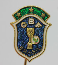 BRAZILIAN FOOTBALL CONFEDERATION Vintage Enamel Pin Badge