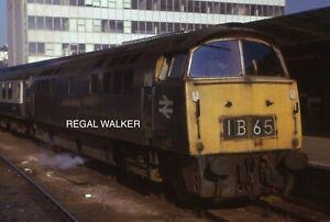 ORIGINAL 35MM SLIDE BRITISH RAILWAY CLASS 52 D1021 WESTERN CAVALIER PLYMOUTH 74