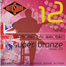 Rotosound SB12 Country Gold Acoustic Guitar Strings 12 To 54
