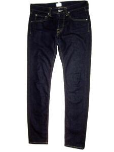 EDWIN Jeans dark wash slim tapered slim fit thin denim trousers W34 L32