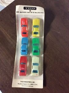 New Old Stock Sealed RARE TYCO HO scale set of 6 cars- no. 123-150