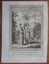 BELLIN: People of Java Jawa Indonesia Asia  - 1753