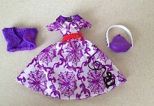 NEW Monster High Doll Operetta Music Note Dress Purse Vintage Clothes Outfit Lot