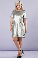 Forever 21 Plus Size Black Silver  Sequin Shift Party Dress 1X