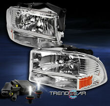 1997-2004 DODGE DAKOTA/1998-2003 DURANGO CRYSTAL CHROME HEADLIGHT W/8K XENON HID