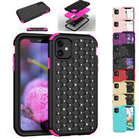 Women Bling Rhinestone Rugged Cover Case For iPhone 11/11 Pro/11 Pro Max 2019