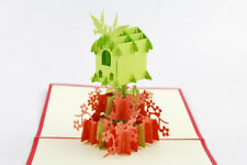Birds House Nest 3D Pop Up Greeting Card Handmade Kirigami All Occasion HOME